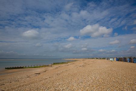 Shingle beach Hayling Island near Portsmouth uk