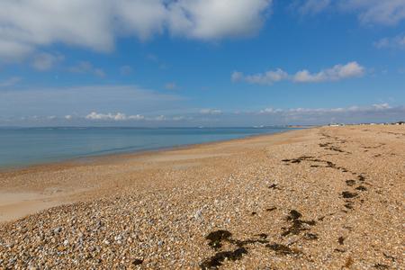Hayling Island beach near Portsmouth south coast of Hampshire England UK