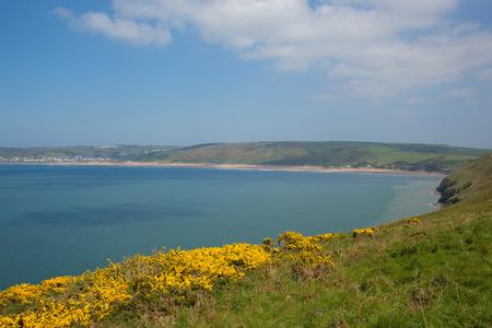 Woolacombe coast Devon England UK from south west coast path