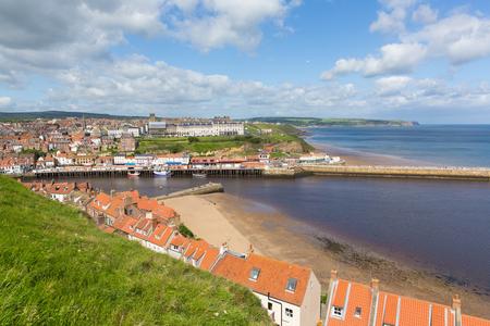 Whitby North Yorkshire England UK-kuststad en kustmening