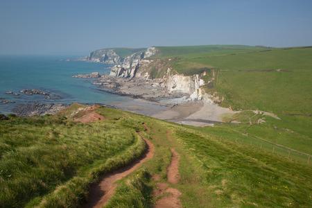 Ayrmer Cove near Challaborough bay South Devon England uk on south west coast path Stock Photo