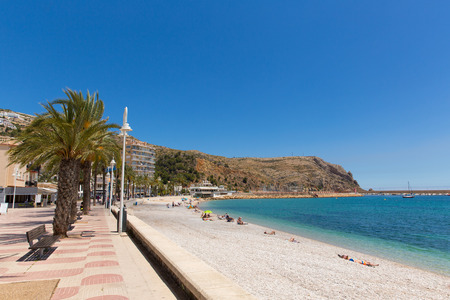 Jávea Spain beautiful Spanish town with Platja de la Grava beach located south-east of Denia