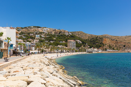 Xabia Spain beautiful Spanish town with clear blue sea and Platja de la Grava beach located south-east of Denia also known as Javea