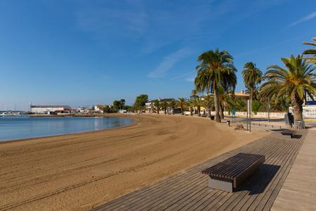 Puerto de Mazarron Spain Playa de la Ermita beach one of many beautiful beaches in this Spanish coast town by the Mediterranean Sea