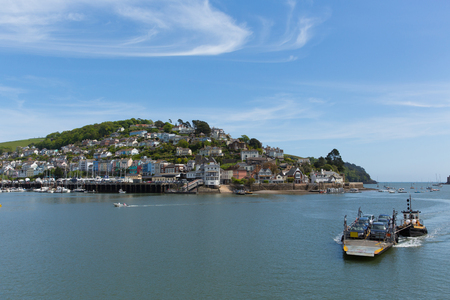 Dartmouth ferry Devon view to Kingswear across River Dart Imagens
