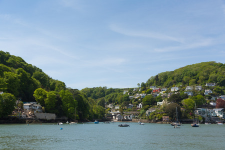 Dartmouth Devon England views of the historic town from the River Dart boat trip