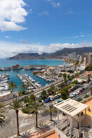 Calp Spain Alicante Valencian Community coast town and marina known for the famous rock landmark Penon de Ilfach