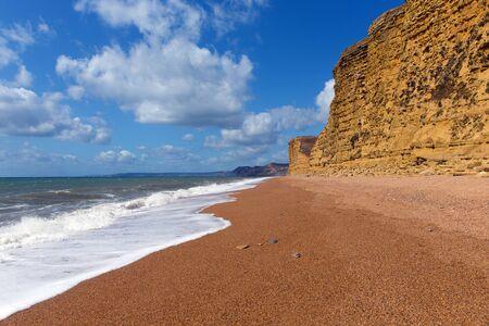 Jurassic coast beach Freshwater near West Bay Dorset UK
