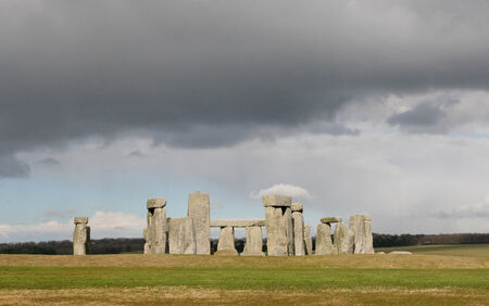 Stonehenge England UK An ancient prehistoric stone monument near Salisbury, Wiltshire, UK  It was built anywhere from 3000 BC to 2000 BC  photo