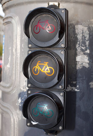 Traffic lights for cyclists photo