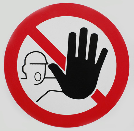 Stop sign hand icon symbol photo