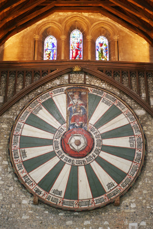King Arthur1s round table in Winchester England UK 免版税图像 - 35160070