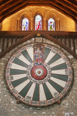 winchester: Re Arthur1s tavola rotonda in Winchester Inghilterra Regno Unito Editoriali
