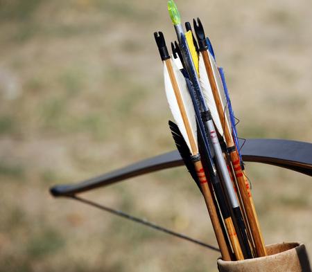 arco y flecha: Cierre de nuevas flechas como fondo