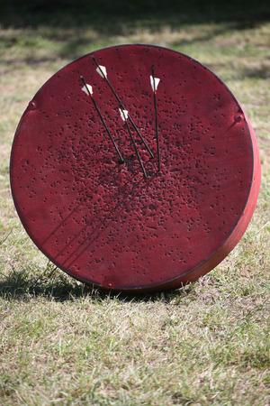 medieval: Histórico de destino tiro con arco medieval en un programa de guerrero