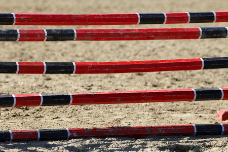 equitation: Equitation obstacles bars for horse jumping event