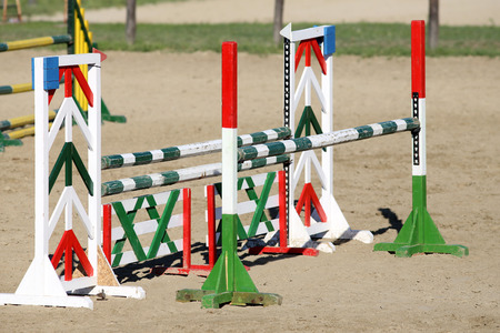 equitation: Equitation oxer obstacles bars for horse jumping event