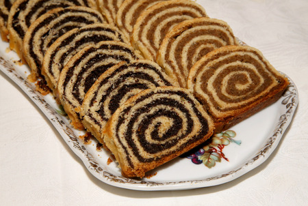 christmas catering: Beigli is the famous traditional hungarian christmas cake