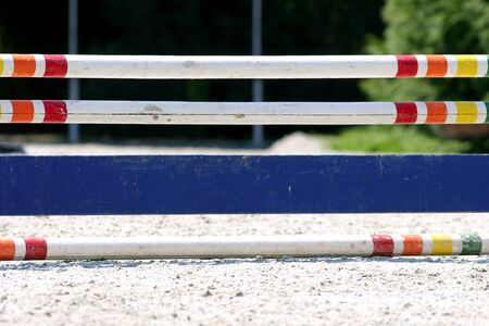 obstacles: Horse jumping obstacles. Show jumping barriers