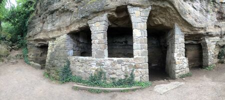 high priest: Medieval chapel and a dining room from the rocks in Tihany Hungary
