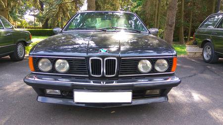 csi: BALATON HUNGARY - AUG 12 2016: Retro BMW BMW 635 CSI at 2016 Retro Auto Parade