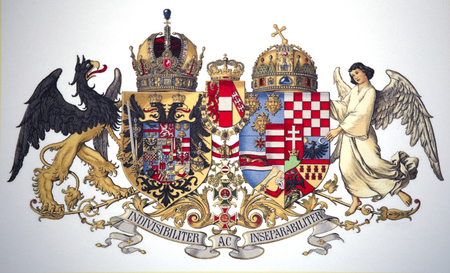 Historical common medium coat of arms of Austria-Hungary 1915-1918 Publikacyjne