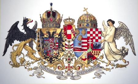 Historical common medium coat of arms of Austria-Hungary 1915-1918 Editorial