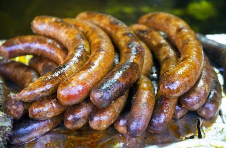 Closeup of traditional hungarian meat foodish  name is hurka Reklamní fotografie - 117578993