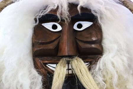 Traditional buso mask of the busojaras event in Hungary Mohacs