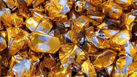 Original hungarian christmas sweetness from Hungary name is szaloncukor aka parlour candy Stock Photo