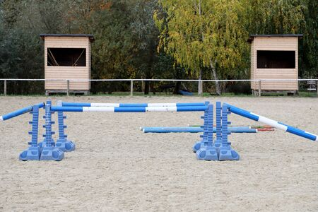 Accesories for horse trainings and events in rural equestrian training centre