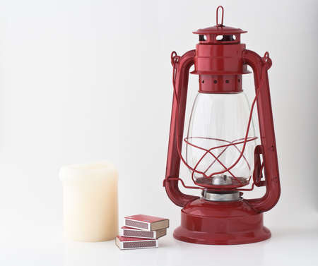 outage power: Emergency or power outage kit: kerosene lantern, matches and candle