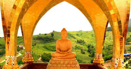 budha: Beautyful Budha in Mountain Valley  Stock Photo