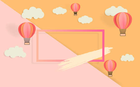 Cartoon childlike hot air balloon background