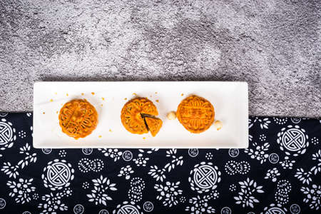 Mid-Autumn Chinese Traditional mooncake Stock Photo