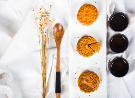 Mid-Autumn Chinese Traditional Cuisine Stock Photo