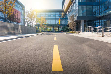 concrete road curve of viaduct in china outdoor Stock Photo