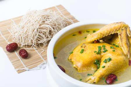 Old hen soup noodles