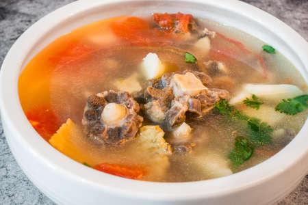 Chinese yam tomato oxtail soup Reklamní fotografie