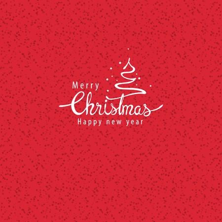vector illustration.Christmas greeting card.Hand lettering design. Stock Vector - 115605855