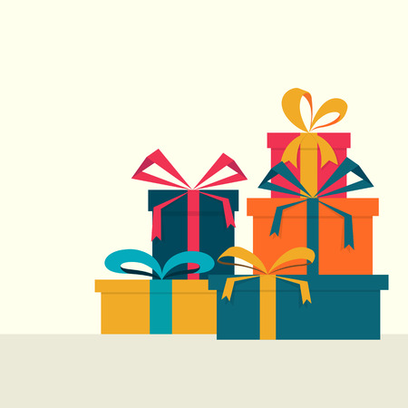 Vector illustration.Set of gift boxs. Illustration
