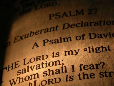 salmo: Il Signore � mia luce Bibbia Scrittura