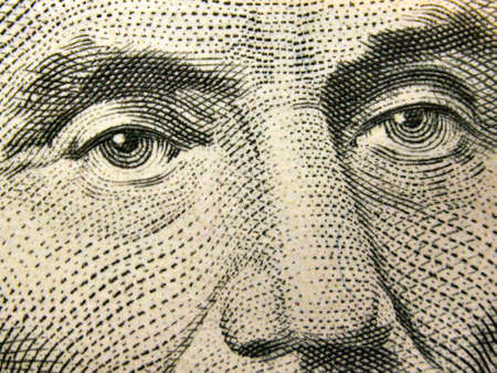 face close up: Abraham Lincoln Eyes