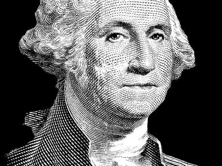 George Washington - One Dollar Bill - $ photo