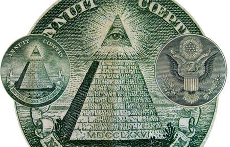 One Dollar Bill Back Abtract