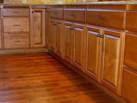 back kitchen: Alder Custom Cabinets