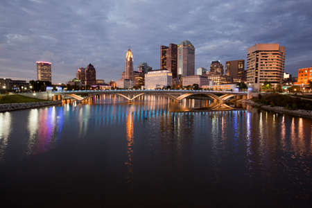 Columbus Ohio along the Scioto River Stock Photo