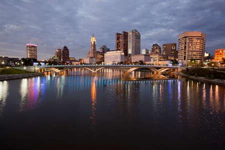 ohio: Columbus Ohio along the Scioto River Stock Photo