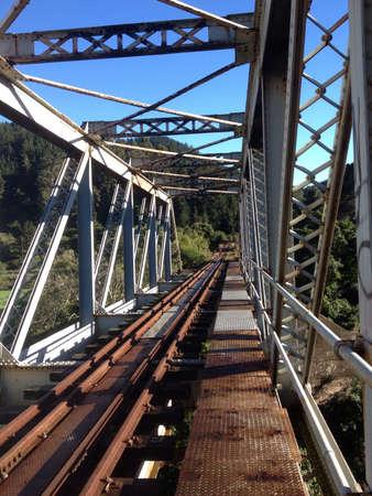 steel: Old steel railway bridge