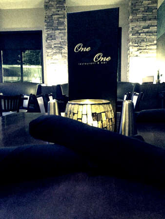 One2One Restaurant and Bar se encuentra en Frisco TX Foto de archivo - 26109639